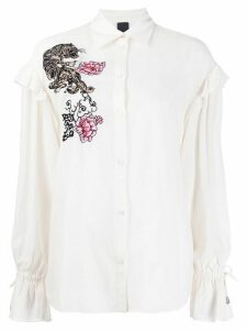 Pinko embellished tiger blouse - White