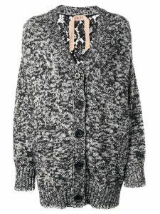Nº21 oversized lace panel cardigan - Grey
