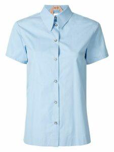 Nº21 open layered back shirt - Blue