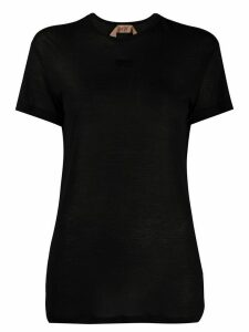Nº21 logo detail sheer T-shirt - Black