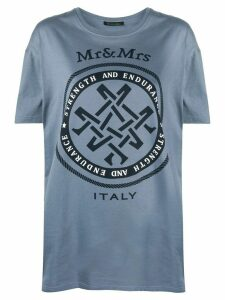 Mr & Mrs Italy oversized logo T-shirt - Blue