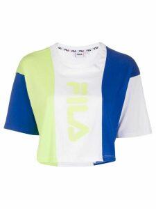Fila colour block T-shirt - White