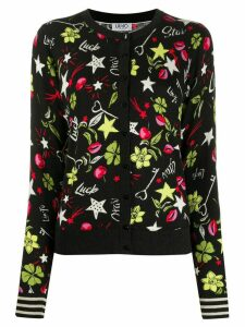 LIU JO all-over print cardigan - Black
