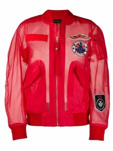 Mr & Mrs Italy embroidered detail sheer bomber jacket