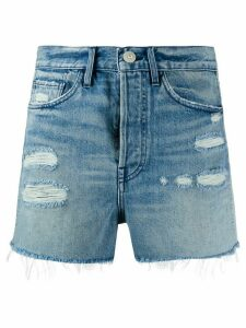 3x1 Jayson ripped detail shorts - Blue