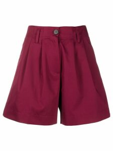 Forte Forte high-waisted pleated shorts - PINK