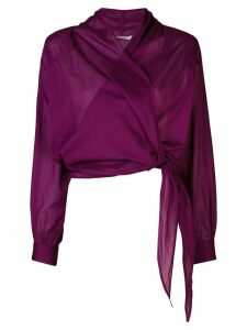 Mes Demoiselles Claudia wrap blouse - PURPLE