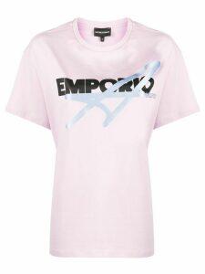 Emporio Armani logo print boxy T-shirt - PINK