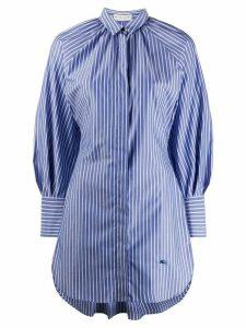 Etro fishtail-hem striped shirt - Blue