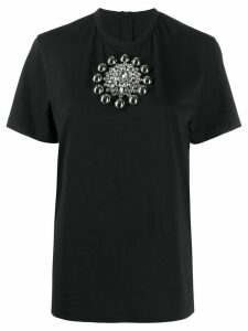 Christopher Kane embroidered cotton T-shirt - Black
