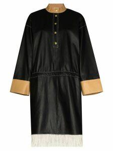 STAND STUDIO Kendall contrast-fringe dress - Black