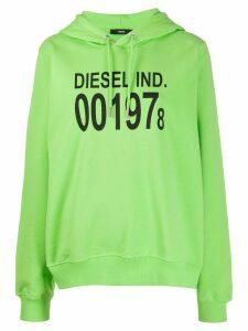 Diesel F-ANG-HOOD-J1 logo print hoodie - Green