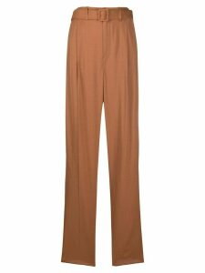 Lemaire high-waist belted trousers - Brown