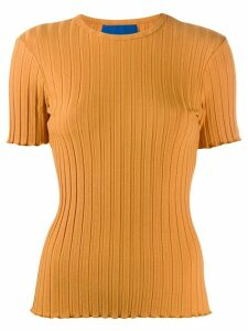 Simon Miller ribbed fitted top - ORANGE