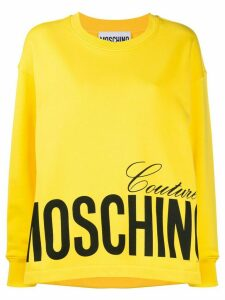 Moschino logo printed sweatshirt - Yellow