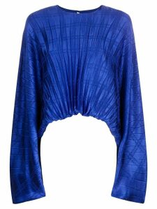 Federica Tosi pleated asymmetric blouse - Blue