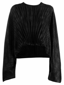 Federica Tosi pleated asymmetric blouse - Black