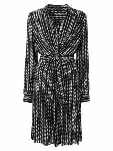 Elie Tahari Saxon diamond-print shirt dress - Black