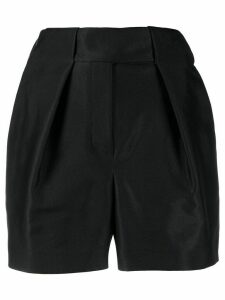 Alexandre Vauthier satin high-raised shorts - Black