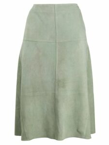 Arma high-rise A-line skirt - Green
