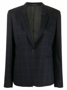 Paul Smith checked suit jacket - Blue