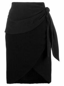 Federica Tosi high-waisted wrap skirt - Black
