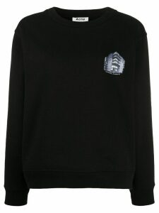 Acne Studios Headquarters-print sweatshirt - Black