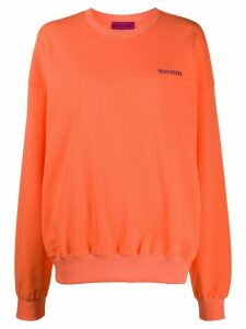 IRENEISGOOD embroidered logo sweatshirt - ORANGE