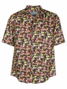 Jonathan Cohen abstract-print bowling shirt - Red