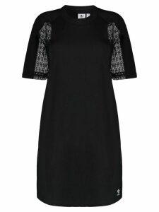adidas lace insert T-shirt dress - Black