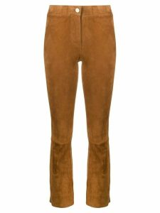 Arma Lively cropped trousers - Brown