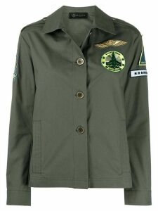 Mr & Mrs Italy embroidered detail boxy fit jacket - Green