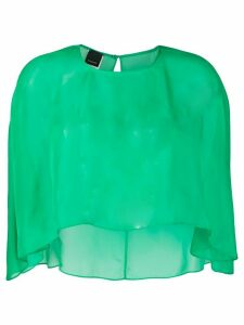 Pinko sheer cape top - Green