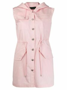 Mr & Mrs Italy multi-pocket hooded dress - PINK