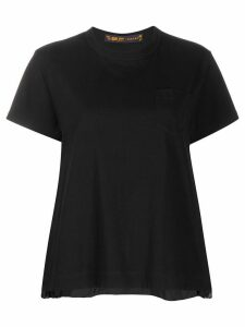 Sacai pleated side panel T-shirt - Black