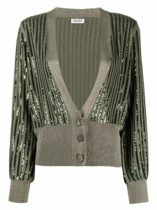 LIU JO sequin embellished cardigan - Green