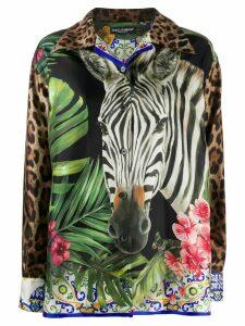 Dolce & Gabbana Safari print long-sleeved shirt - Green
