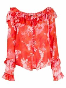 Pinko floral print blouse - Red