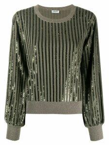 LIU JO sequin embellished jumper - Green