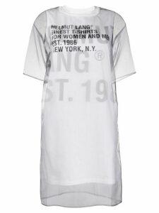Helmut Lang sheer overlay T-shirt dress - White