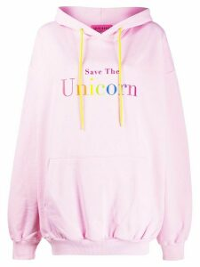 irene is good Save The Unicorn hoodie - PINK