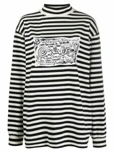 Eytys Compton doodle-print striped sweater - Black