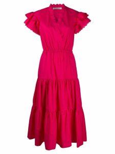 Philosophy Di Lorenzo Serafini v-neck tiered midi dress - PINK