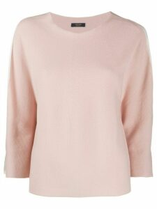 Peserico split sleeve jumper - NEUTRALS