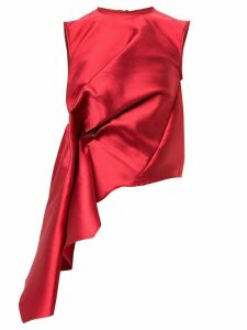 Marques'Almeida draped asymmetric-hem blouse - Red