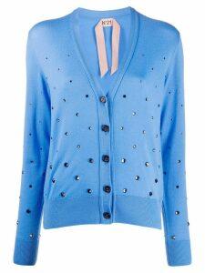 Nº21 crystal embellished cardigan - Blue