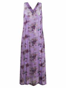 Frankie Morello cross back long dress - PURPLE