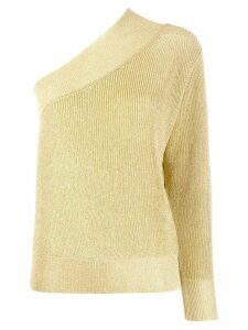 Laneus shimmer one shoulder jumper - GOLD