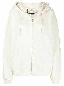 Gucci logo print hoodie - NEUTRALS
