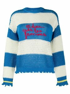 Pinko striped embroidered jumper - Blue
